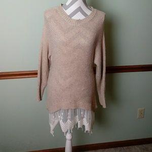 Thml size medium sweater with rabbit hair